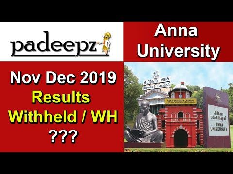 Anna University Results In 2019